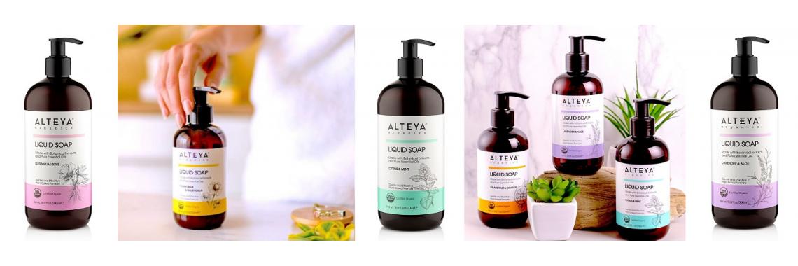 Alteya Organics Økologiske Flydende Sæber