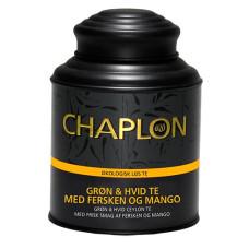 CHAPLON - Økologisk Grøn & Hvid te med Fersken og Mango i dåse