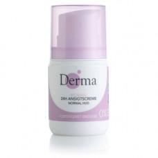 Derma - Eco woman 24h normal ansigtscreme normal hud