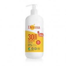 Derma - kids sollotion SPF 30 med pumpe