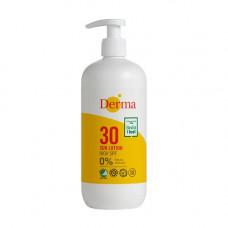 Derma sollotion SPF 30 med pumpe