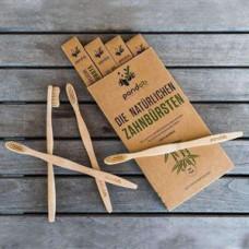 Pandoo - 4-pak Bambus Tandbørste
