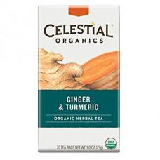 Celestial - Økologiske Ingefær & Gurkemeje infusion Te