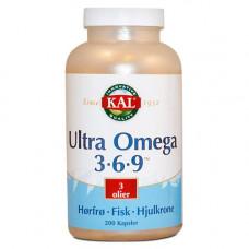 KAL - Ultra Omega 3-6-9 200 Kapsler