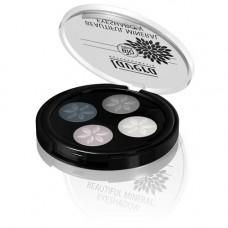 Lavera - Trend Beautiful Mineral Quattro Eyeshadow Smokey Grey 01