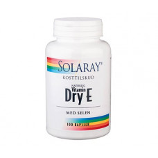 Solaray - Dry E-vitamin med Selen 100 Kapsler