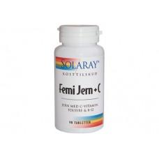 Solaray - Femi Jern + C 90 Tabletter