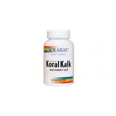 Solaray - Koral Kalk med Vitamin C og D 90 tabletter