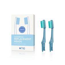 TIO - Udskiftelige tandbørstehoveder i blå / medium