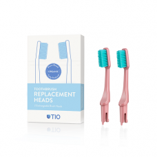 TIO - Udskiftelige tandbørstehoveder i lyserød / soft