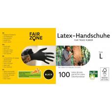 FAIR ZONE - Sorte Latex Handsker Str. L