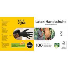 FAIR ZONE - Sorte Latex Handsker Str. S