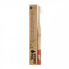 HYDROPHIL - Bambus Tandbørste i Rød Medium