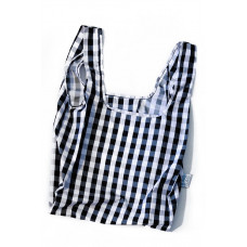 KIND BAG - Gingham Black & White Indkøbspose i Medium