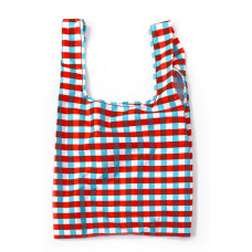 KIND BAG - Tricolour Gingham Indkøbspose i Medium