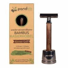 Pandoo - Barberskraber Med Smal Bambus Skaft