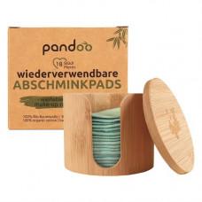 Pandoo - Økologiske Bomulds Rense Rondeller i Opbevaringskrukke