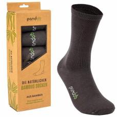 Pandoo - Koksgrå Bambus Herrestrømper i Str. 43-46