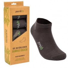 Pandoo - Koksgrå Low Cut Bambus Sokker i Str. 35-38