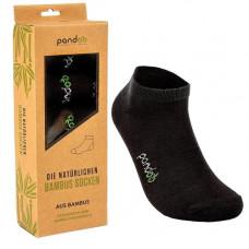 Pandoo - Sorte Low Cut Bambus Sokker i Str. 39-42
