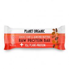 Planet Organic - Økologisk Raw proteinbar Choc Chips & Almond Butter