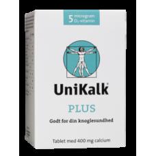 UniKalk - Plus 400 mg. calcium + 5 mcg D-vitamin