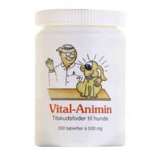 Vital Animin - Tilskudsfoder til Hunde 200 Tabletter