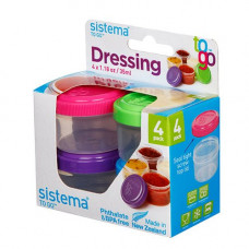 sistema - 4-pak Minibox dressing to go