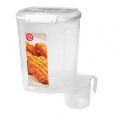 sistema - Opbevaringsboks Bakery med Kop hvid