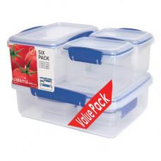 sistema - Opbevaringsboks 6-Pak blå
