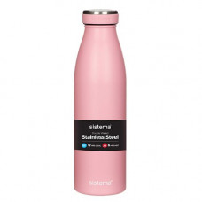 sistema - Drikkedunk med termo steel lyseblå blå rosa grøn army sort