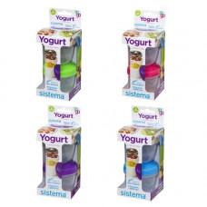 sistema - Yoghurt to go 2-pak lime blå lilla