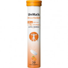 UniKalk - Brusetabletter med appelsin smag
