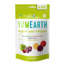 YUMEARTH - Økologiske Slikkepinde med Earth æble kirsebær vindrue