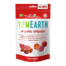 YUMEARTH - Økologiske Slikkepinde med granatæble fersken jordbær og melon